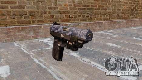 Pistola FN Five seveN LAM Azul de Camuflaje para GTA 4