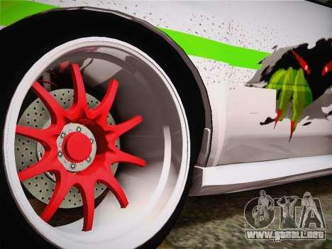 Subaru Impreza Hellaflush para GTA San Andreas vista posterior izquierda