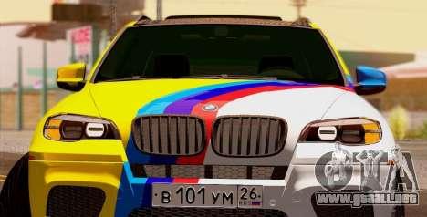BMW X5M 2013 para GTA San Andreas left