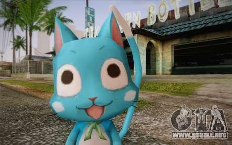 Happy from Fairy Tail para GTA San Andreas tercera pantalla