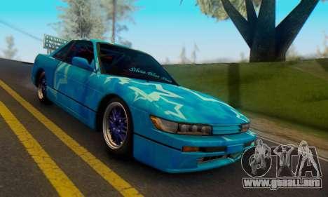 Nissan Silvia S13 Blue Star para la vista superior GTA San Andreas