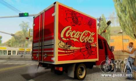 33023 Gacela De Coca-Cola para GTA San Andreas vista posterior izquierda