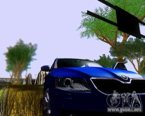 Skoda Octavia A7 Combi para GTA San Andreas vista posterior izquierda