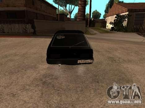 VAZ 2109 Gangster nueve V 1.0 para GTA San Andreas vista hacia atrás