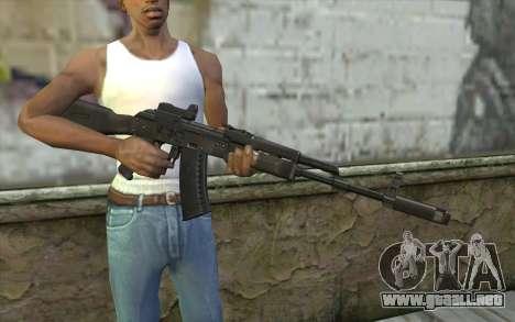 AK74M para GTA San Andreas tercera pantalla
