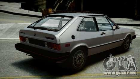 Volkswagen Scirocco S 1981 para GTA 4 left