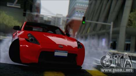 Nissan 370Z Vossen para visión interna GTA San Andreas