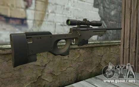 Arctic Warfare Super Magnum L115A1 para GTA San Andreas segunda pantalla