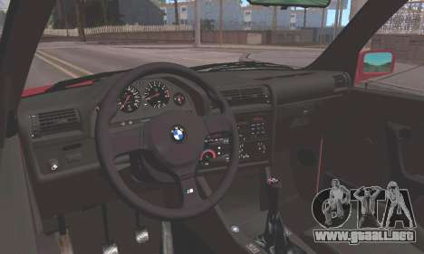 BMW E30 M3 1991 para GTA San Andreas vista hacia atrás