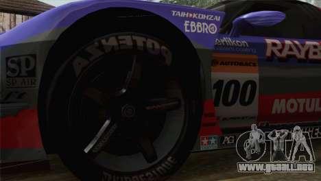 Honda NSX World Grand Prix para GTA San Andreas vista posterior izquierda