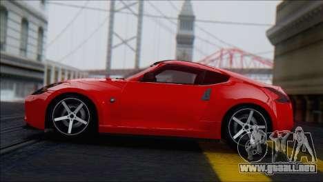 Nissan 370Z Vossen para GTA San Andreas vista hacia atrás