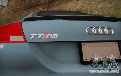 Audi TT RS 2011 para la visión correcta GTA San Andreas