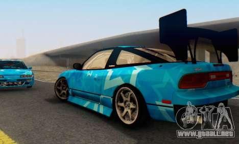Nissan 240SX Blue Star para visión interna GTA San Andreas