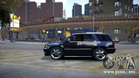 Cadillac Escalade para GTA 4 Vista posterior izquierda