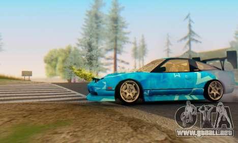 Nissan 240SX Blue Star para GTA San Andreas vista posterior izquierda