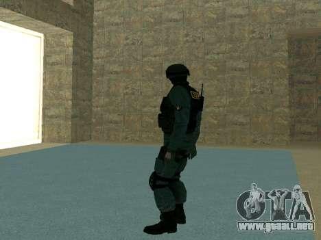 La piel SOBR para GTA San Andreas quinta pantalla