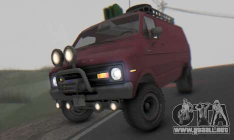 Dodge Tradesman Van 1976 para GTA San Andreas left