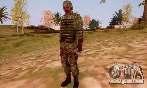 Zombie Soldier para GTA San Andreas sexta pantalla