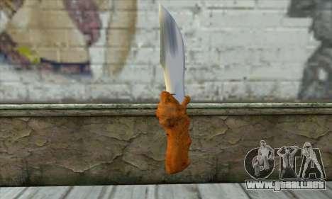 Cuchillo de colección para GTA San Andreas segunda pantalla