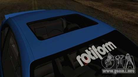 BMW M3 E46 STANCE para GTA San Andreas vista hacia atrás