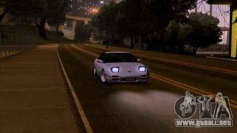 Nissan 240sx Low para GTA San Andreas vista posterior izquierda