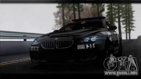 BMW M6 Coupe Redview Police para GTA San Andreas