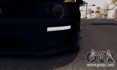 Ford Mustang Shelby Terlingua 2008 NFS Edition para vista inferior GTA San Andreas