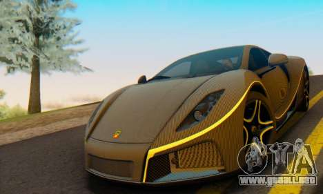 GTA Spano 2014 Carbon Edition para GTA San Andreas vista posterior izquierda