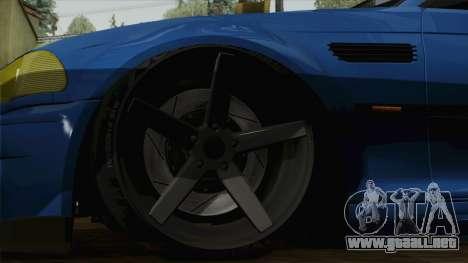 BMW M3 E46 STANCE para GTA San Andreas vista posterior izquierda