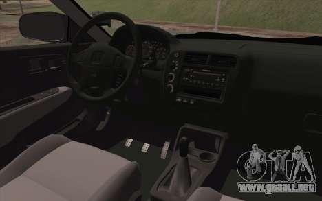 Honda Civic 1999 para la visión correcta GTA San Andreas