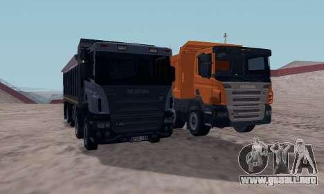 Scania P420 para GTA San Andreas vista hacia atrás