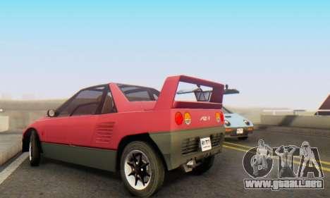Mazda Autozam AZ-1 para visión interna GTA San Andreas