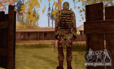 Zombie Soldier para GTA San Andreas segunda pantalla