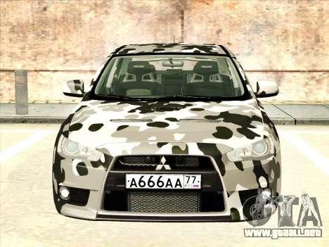 Mitsubishi Lancer Evolution X para las ruedas de GTA San Andreas