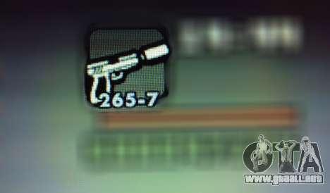 Nuevas características de las armas para GTA San Andreas séptima pantalla