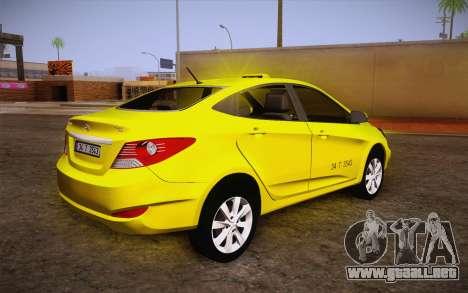 Hyundai Accent Taxi 2013 para GTA San Andreas left