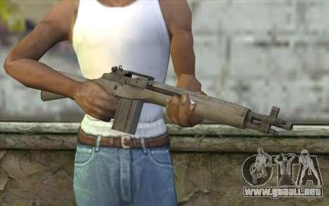 M14 из FarCry para GTA San Andreas tercera pantalla