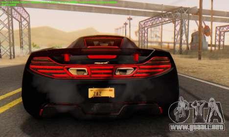 Mclaren MP4-12C Spider Sonic Blum para la visión correcta GTA San Andreas