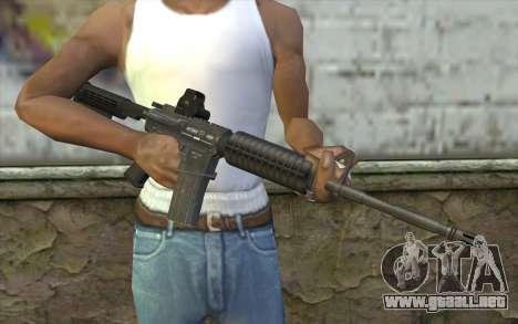 M4A1 Holosight para GTA San Andreas tercera pantalla