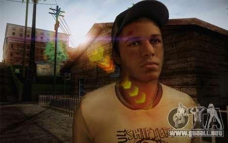 Ellis from Left 4 Dead 2 para GTA San Andreas tercera pantalla