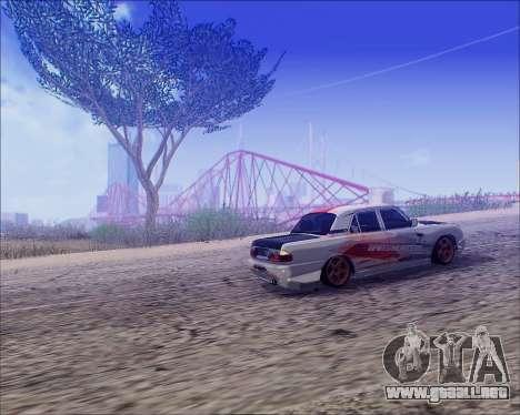 GAZ 31105 Sintonizable para GTA San Andreas vista hacia atrás
