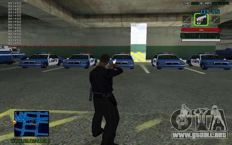 C-HUD by SampHack v.2 para GTA San Andreas segunda pantalla