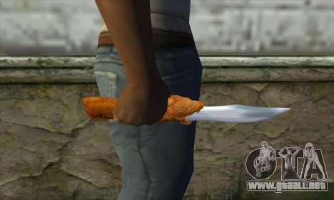 Cuchillo de colección para GTA San Andreas tercera pantalla