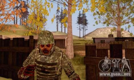 Zombie Soldier para GTA San Andreas quinta pantalla