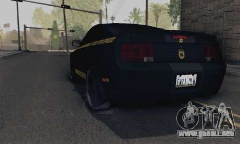 Ford Mustang Shelby Terlingua 2008 NFS Edition para GTA San Andreas left