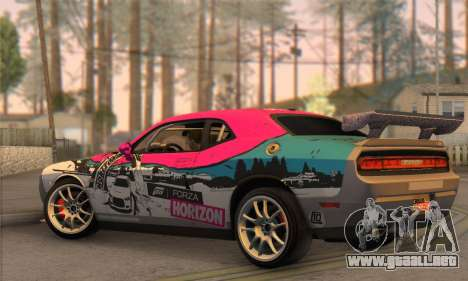 Dodge Challenger SRT8 2012 para GTA San Andreas left