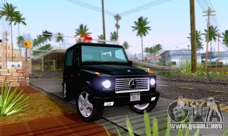 Mercedes-Benz G500 1999 Short para la visión correcta GTA San Andreas