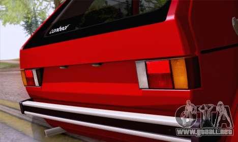Volkswagen Golf Mk I 1978 para visión interna GTA San Andreas
