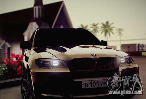 BMW X5M 2013 para vista inferior GTA San Andreas