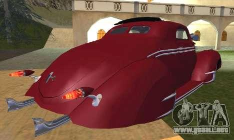 Lincoln Zephyr 1946 para visión interna GTA San Andreas